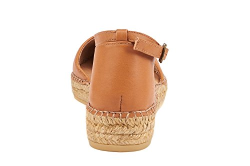 In Tan Ankle Closed Spain VISCATA Flats Strap Conca Toe Leather Sandal Espadrilles Made xAw7wZvqX