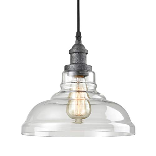 AXILAND Rustic Glass Pendant Lights Clear Glass Hanging Ligh