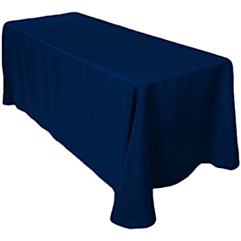Gee Di Moda Rectangle Tablecloth  Inch Navy Blue Rectangular Table Cloth