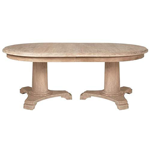Oval Stone Washed Acacia Conference Table with Extension