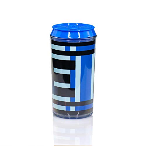 - JUST FUNKY Mega Man Official Energy Tank Travel Can | Convient E-Tank Holds Your Favorite Energy Drink Or Beverage