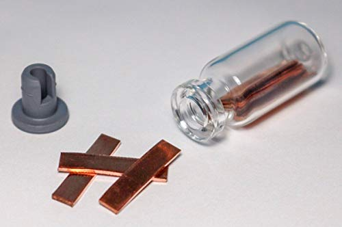 Copper Metal Strips/Electrode 99.9% Pure Element 29 Cu Chemistry Sample Strips ()