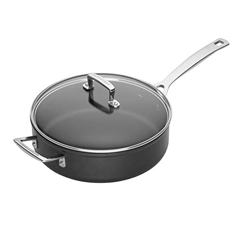 Le Creuset Toughened Nonstick 4-1/4-Quart Saute Pan and Glass Lid ()