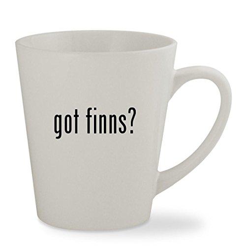 Huck Finn Costume (got finns? - 12oz White Sturdy Ceramic Latte Cup Mug)