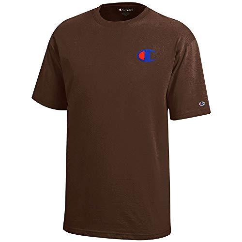 (Champion Reverse Weave Logo Youth (Brown) Short Sleeve T-Shirt)