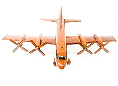 P-3 Orion Replica Airplane Model Hand Crafted with Real Mahogany Wood
