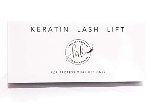 Lash and Brow NY keratin eyelash lift kit with single use packets
