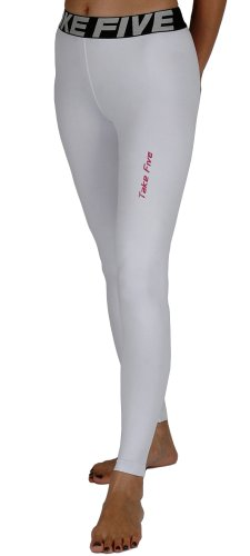 New 113 Winter Warm Skin Tights Compression Base Layer White Pants Womens S-xl (S) - 113 Rugby