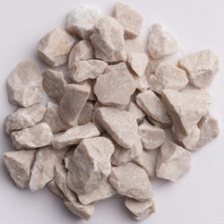 Jersey Cream Marble Chips - Size 2: 1/4-3/8 inch (6-9 mm) - Bag of 5 lbs (2.26 kg)