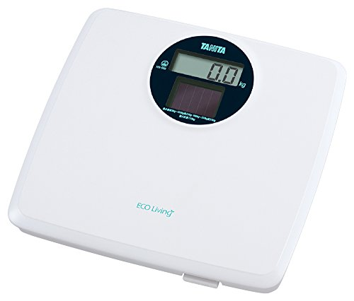 TANITA 디지털 체중계 [솔라 시스템에서 건전지가 필요없는 에너지 절약형] 화이트 HS-302-WH