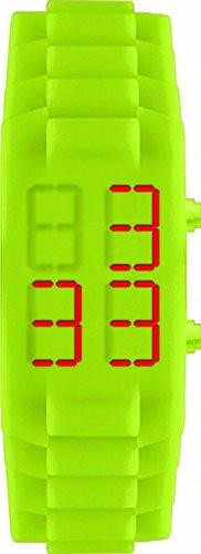 Jacques Lemans 374F - Wristwatch unisex, silicone, color: verde