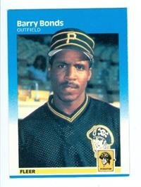 (Barry Bonds 1987 Fleer Baseball Card #604 Pittsburgh Pirates - mint condition unsigned rookie card)