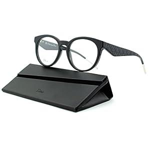Dior VeryDior 2/O Women Round Eyeglasses (Black Frame (0807), 52)