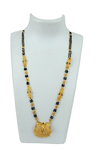 3ddf03e12 Ankur imitation jewellery gold plated designer mangalsutra for women   Amazon.in  Jewellery