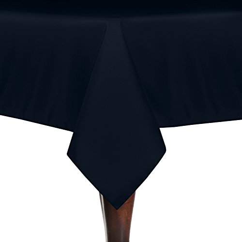 Ultimate Textile (10 Pack) 52 x 72-Inch Rectangular Polyester Linen Tablecloth - for Wedding, Restaurant or Banquet use, Navy Blue by Ultimate Textile
