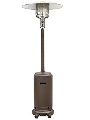 Mocha Garden Outdoor Patio Heater Propane Standing LP Gas Steel w/accessories