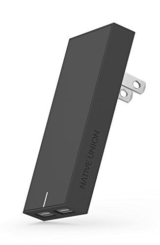Native Union Smart Charger - 2-Port USB-A Charger (Slate)