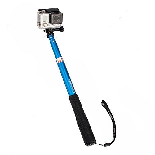 shineda sd 208 telescopic selfie stick pole for gopro hero 2 3 3 4 5 gopro hero 4 session 36. Black Bedroom Furniture Sets. Home Design Ideas