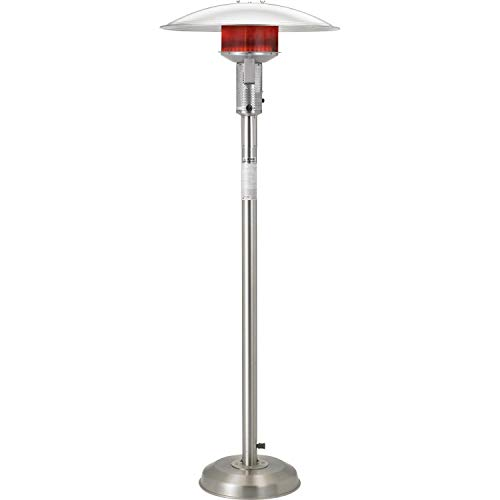 - Sunglo 50000 Btu Natural Gas Patio Heater - Stainless Steel