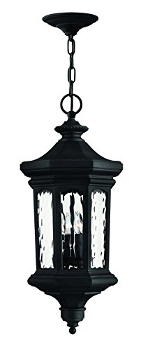 Hinkley 1602MB Traditional Four Light Hanging Lantern from Raley collection in Blackfinish, Raley Outdoor Lantern