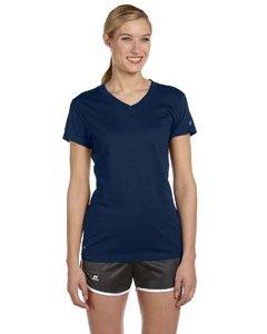 Russell Athletic Womens Dri-Power V-Neck T-Shirt (JUL1JW) -J NAVY ()