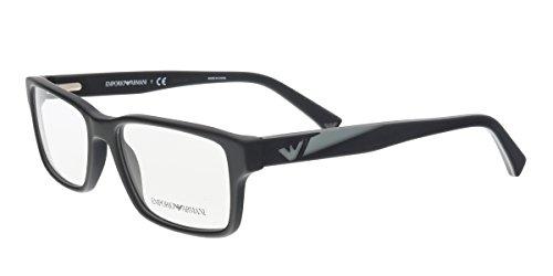 Armani EA3087 Eyeglass Frames 5042-54 - Matte Black - Armani Emporio Frames Glasses