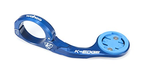 K-EDGE Wahoo ELEMNT Handlebar Mount (Blue 31.8mm) For Sale