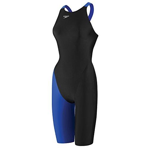 Speedo Womens LZR Elite 2 Rcrdbrkr Kneeskn 1pc. Swmsuit, Black/Sapphire - 26-8L