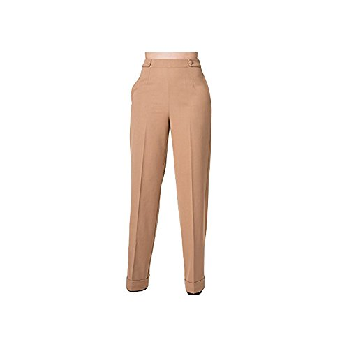Banned-Flared-Vintage-Retro-40s-50s-High-Waist-Trousers