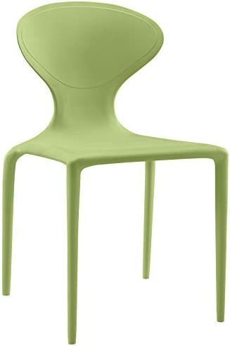 Modway Draw Contemporary Modern Molded Plastic Stacking Dining Side Chair