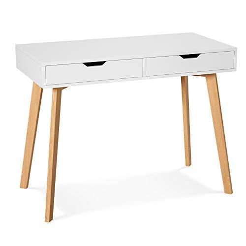 Mainstays Student Desk, Black 6 Cube Storage Desk, White