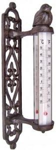Esschert Design en fonte de jardin intérieur//extérieur Serre Métal Clé Thermomètre