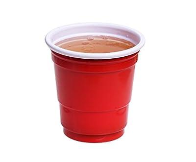 [TashiBox] Disposable Mini Red Shot Glasses - 2 oz, 200 count - shot glasses, bath cups, sampling cups.