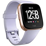Fitbit Versa Smart Watch, Periwinkle/Rose Gold, Aluminium, One Size (S & L...