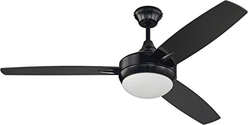Craftmade 3 Blade Ceiling Fan Black with Dimmable LED Light