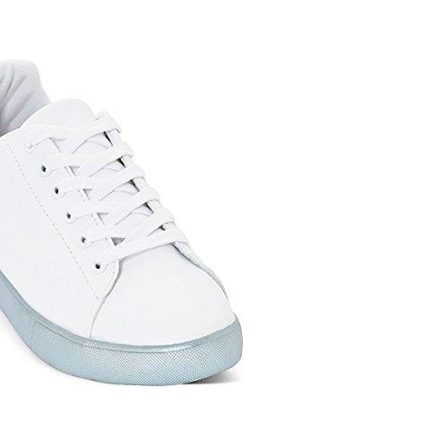 La Redoute Mademoiselle R Frau Sneakers, Sohle in Metallicblau Gre 41 Weiss