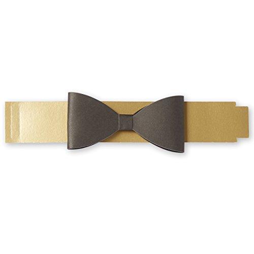 C.R. Gibson Bowtie Paper Napkin Ring Napkin Holder, 12pc, 10'' x 1''