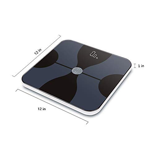 bucanim Bluetooth Scale Digital Bathroom Body Fat Scale Composition Smart Scale Monitor Professional Body Analyzer ITO Conductive Glass,Capacity
