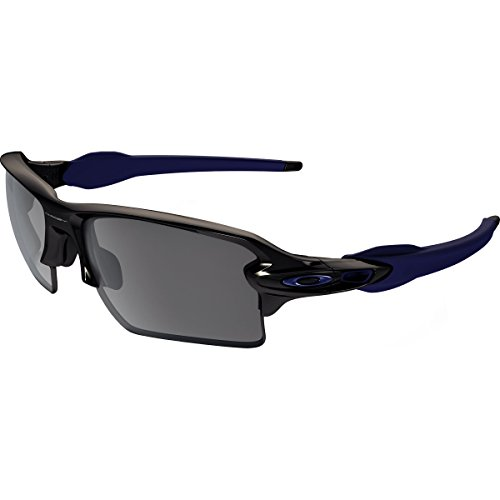 Oakley Adult Flak 2.0 XL Sunglasses, Polished Black/Navy/Black Iridium, One - Oakley Work Sunglasses