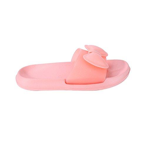 WILLIAM&KATE Deslizadores de colores para las mujeres en verano Casual Deslizadores antideslizantes Deslizadores de piso de interior Sandalias de baño naranja