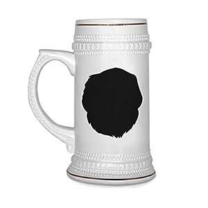 Custom Beer Mug Pyrenean Mastiff Silhouette Ceramic Drinking Glasses Beer Gifts White 18 OZ Design Only 7