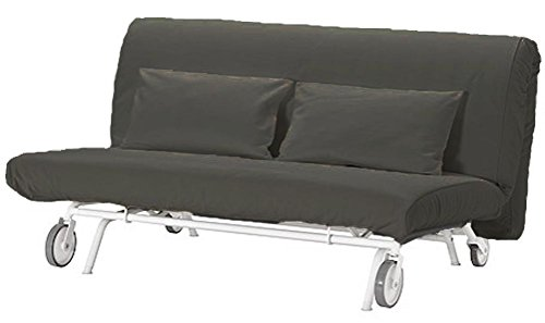 Cotton PS Lovas ( Two Seat ) Cover Replacement is Custom Made for Ikea PS Sofa Bed, Sleeper, Or Futon Slipcover (Dark Gray) price