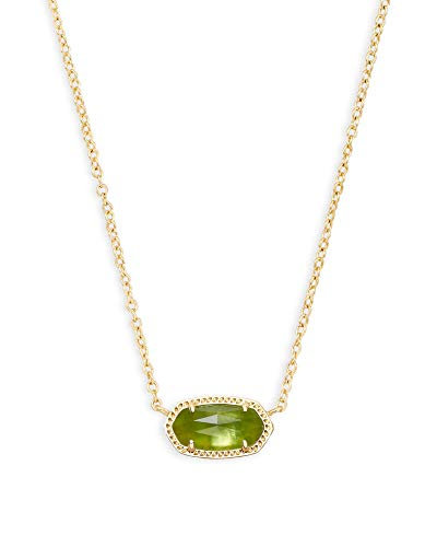 Kendra Scott Elisa Pendant Necklace in Peridot, 14K Gold-Plated