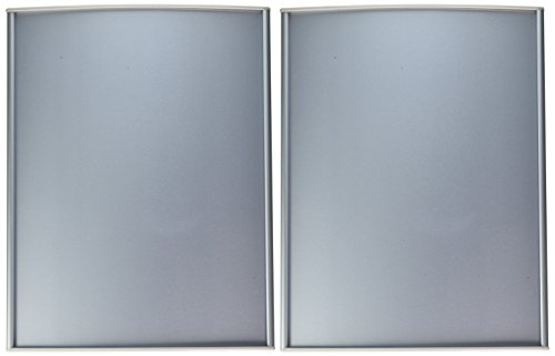 Displays2go Juego de 2, puerta cartel con mate Lente para mostrar 81/5.1x 27.9cm gráficos, placa nombre curvado...