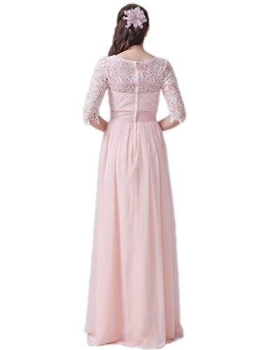 Belle Maison Des Femmes De Longues Robes De Bal Avec Manches Courtes Robes Du Soir Ligne Dentelle Pastel Vert