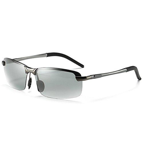 UV400 Metal La Gafas De De De Sol PC Polarizado Cambio Marco Deporte Unisex Color Gafas Black Material De OPpnqq8w