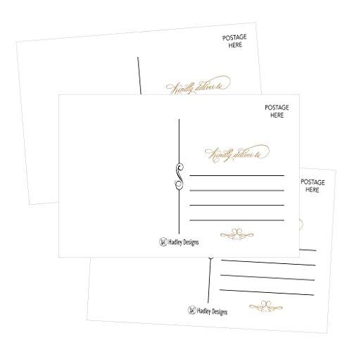 25 4x6 Blank Postcard Paper Cardstock, DIY Kids Illustrated Design Coloring Postal Cards For Children White, Bulk Printable Plain Matte Mailable Template Appointment Reminders Inkjet or Laser Printer
