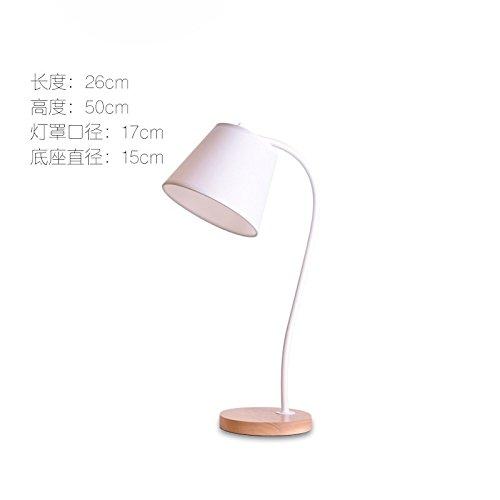 YFF@ILU Lampe einfach kreative Kunst Schmiedeeisen Tischleuchte mit verstellbarem Schreibtische Schlafzimmer Bett Augenschutz Tischleuchte, weiß, Wolframlampe, Schaltfläche