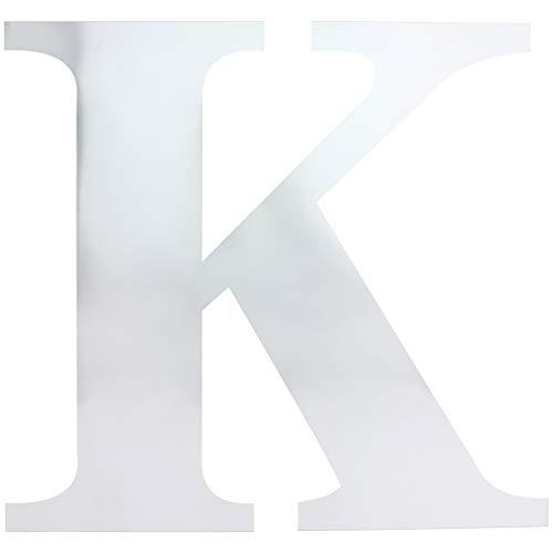 Juvale Letter K Mirror Decal Sticker DIY Wall Art (3 -