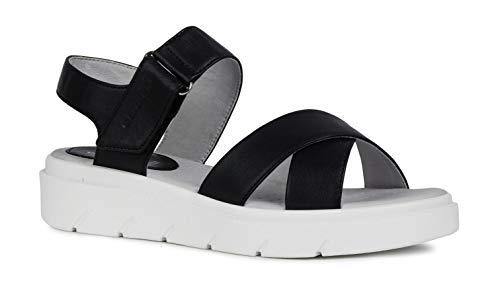 Plataforma Sandalias Verano D92dle plataforma De Schwarz Mujer zapatos cómoda Geox Vestir Sandalias sandalia Verano suela Suela Sandalia Gruesa fémina La Tamas 0S1xnOP